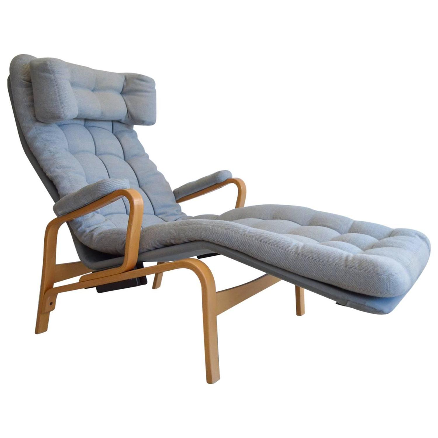 Sam Larsson for DUX Reclining Lounge Chair For Sale at 1stdibs