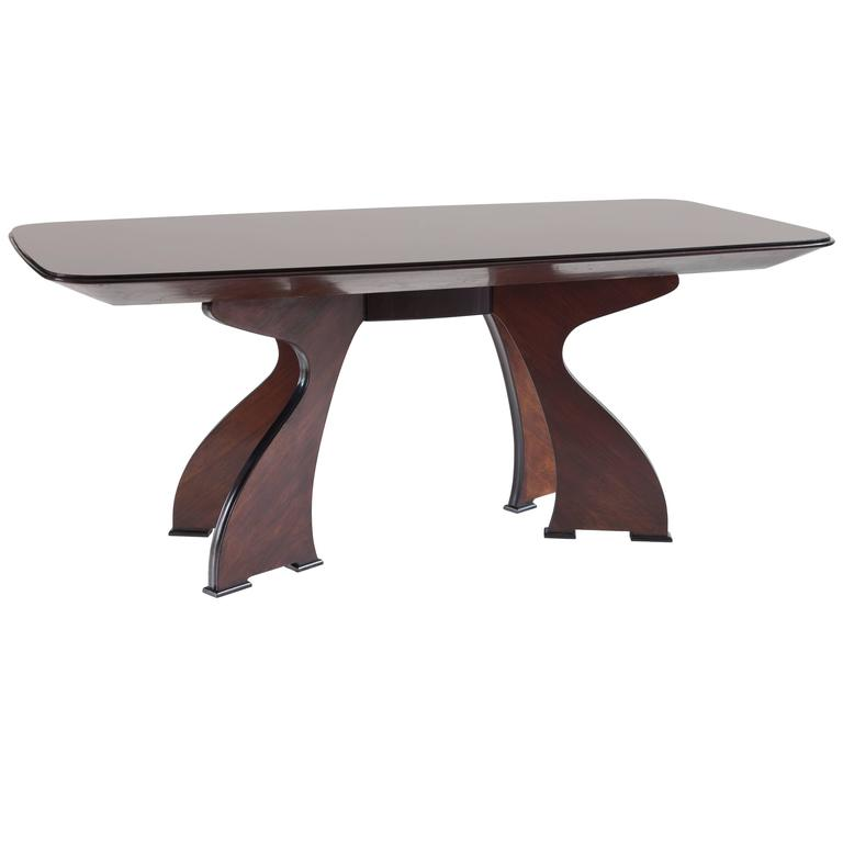 Stunning Unique Italian Modern Rosewood Dining Table, circa 1940