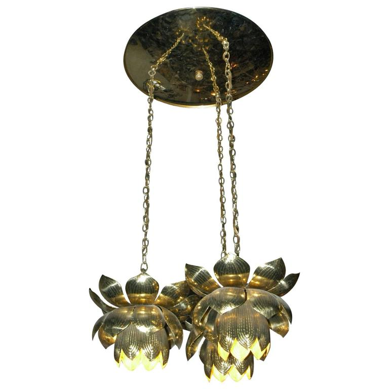 7f22c2f994b3 Feldman Lighting Co. Mid-Century Lotus Pendant Chandelier For Sale. Mid- Century