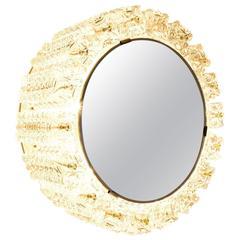 Backlit Mirror by Austrolux, Vienna, 1950s