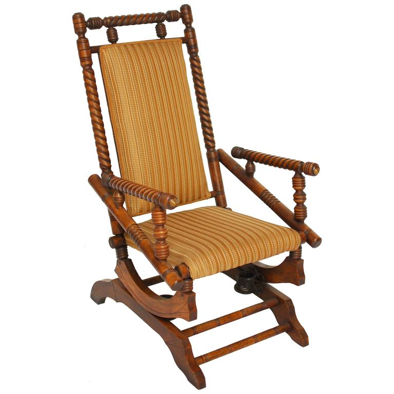 Hunzinger style platform rocker for sale at stdibs