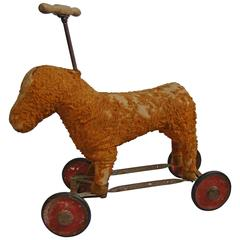 Early 20th Century Folk Art Americana Horse Child's Pull Toy