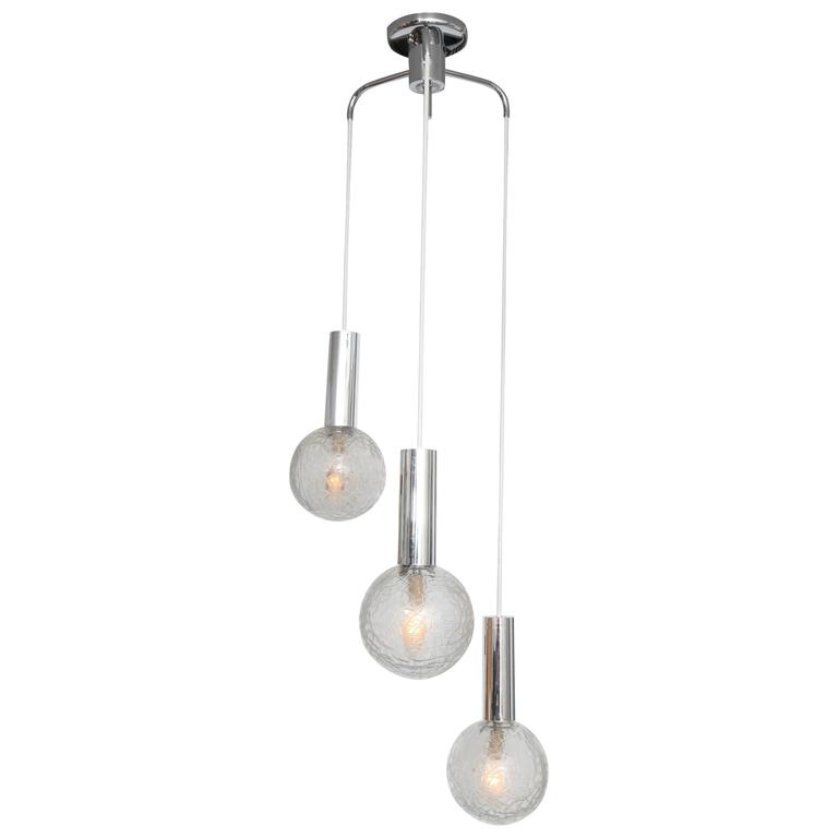 Three-Globed Pendant Light Fixture