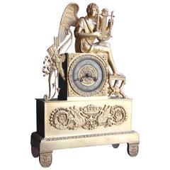 French 1st Empire Ormolu Bronze Clock