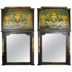Pair of Trumeau Mirrors