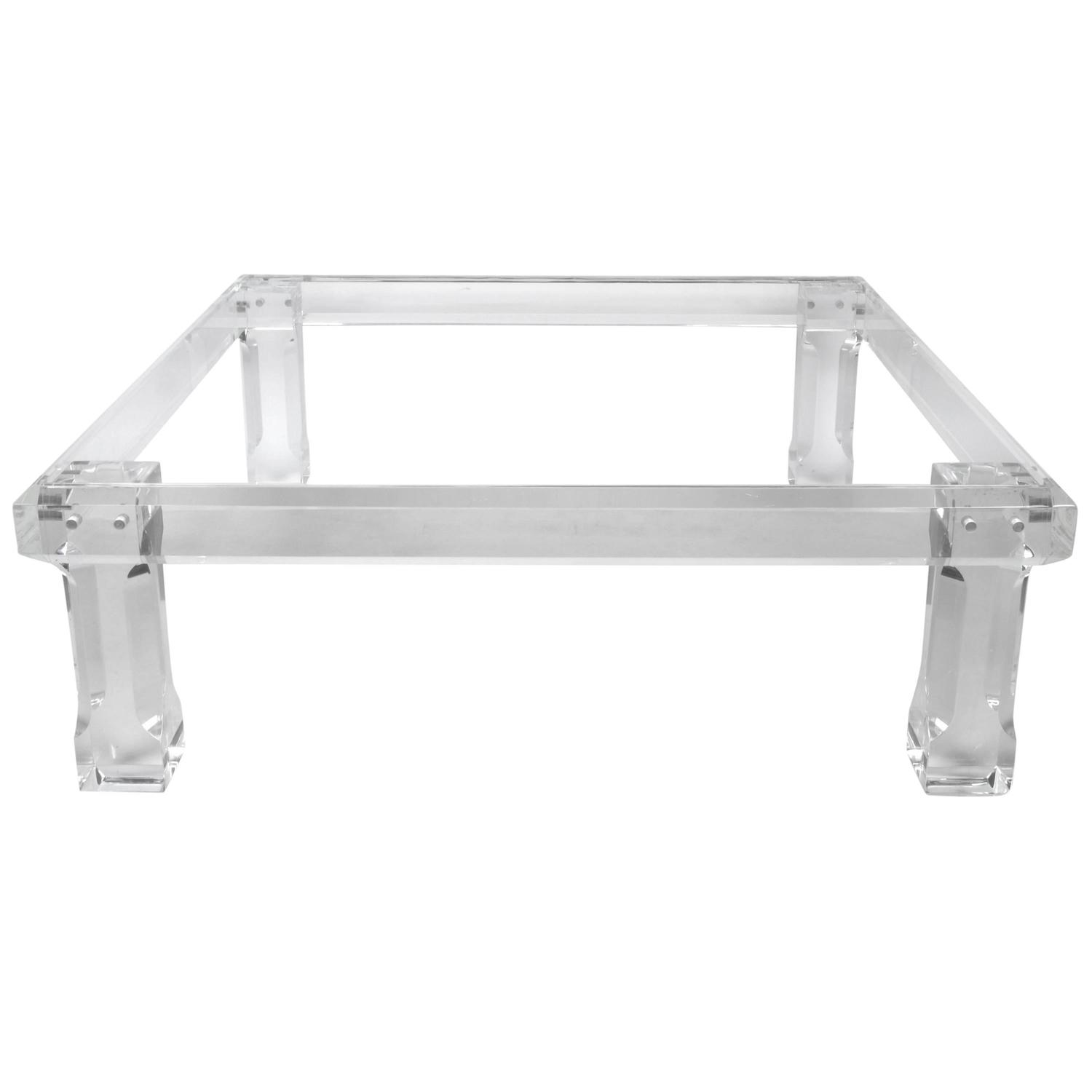 Square VJJ Lucite Coffee Table, 1977 - Lucite Coffee And Cocktail Tables - 368 For Sale At 1stdibs
