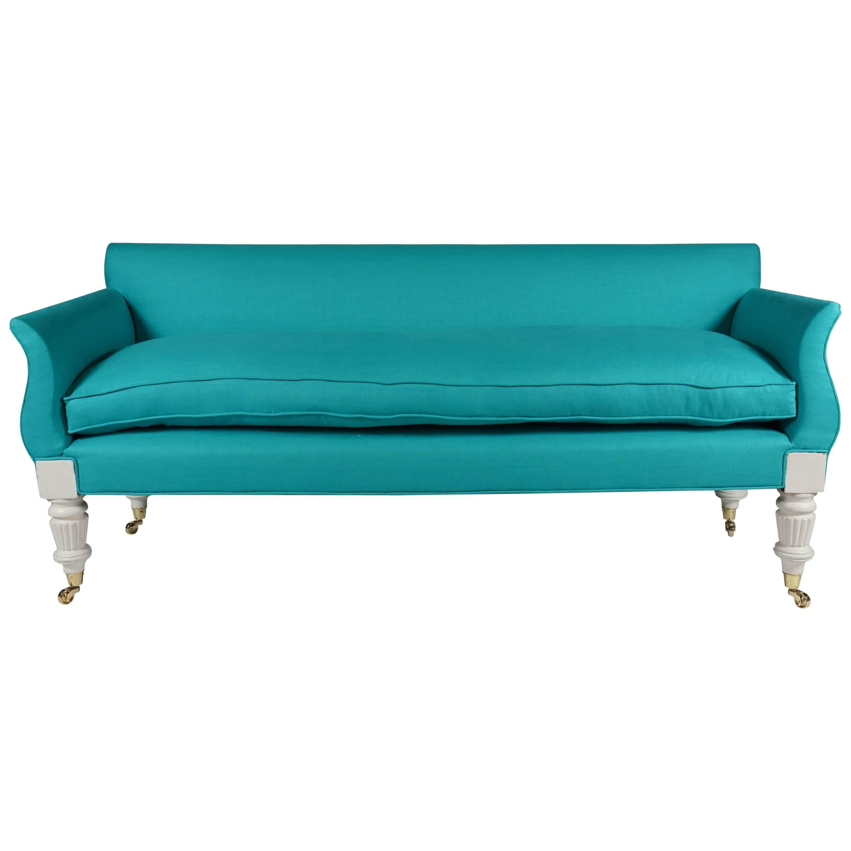 Regency Painted and Upholstered Hall Sofa or Settee, circa 1835