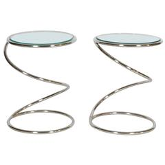 Pair Pace Collection Spring Tables by Leon Rosen