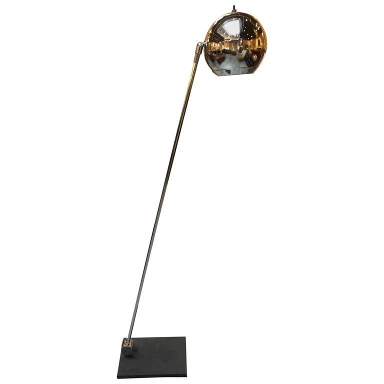 Robert Sonneman Chrome Floor Lamp At 1stdibs