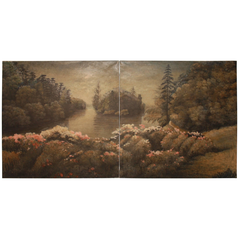Beautiful Diptych Paintings