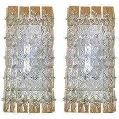 Large Pair of Austrian Crystal Kinkeldey Wall Lights