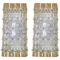 Large Pair of Austrian Crystal Kinkeldey Wall Lights