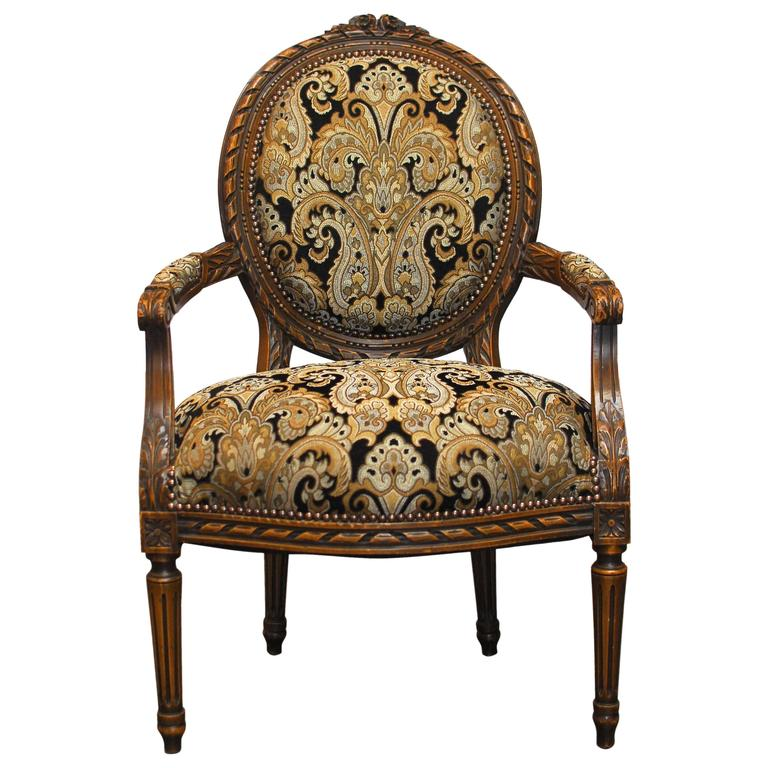 19th century louis xvi style fauteuil armchair at 1stdibs. Black Bedroom Furniture Sets. Home Design Ideas