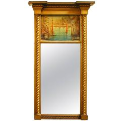 19th Century Federal Gilt Wood Mirror