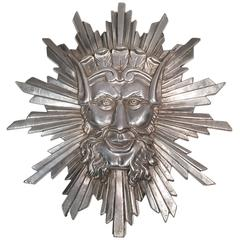 Decorative Sun King Mask Purchased from the Studio of Gilbert Poillerat