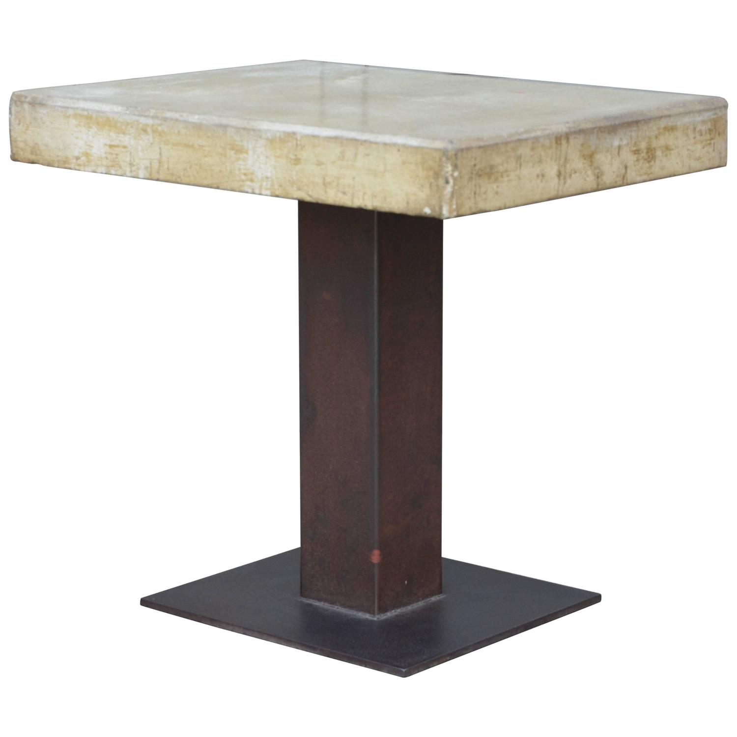 One Of A Kind Brutalist Polished Concrete Table For Sale At 1stdibs