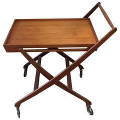 Mid-Century Modern Danish Folding Bar Cart