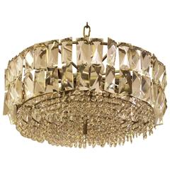 Large Impressive Cut Crystal Chandelier by Bakalowits