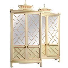 Pair of Chinoiserie Two-Door Cabinets