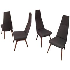 Four Adrian Pearsall Tall Back Dining Chairs Designed for Craft Associates