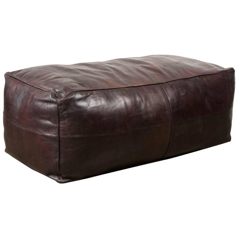 Oversized Camel Hide Ottoman At 1stdibs