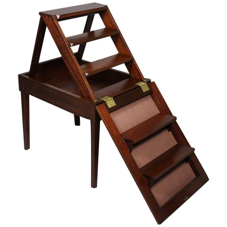 georgian mahogany metamorphic bench step ladder for sale at 1stdibs. Black Bedroom Furniture Sets. Home Design Ideas