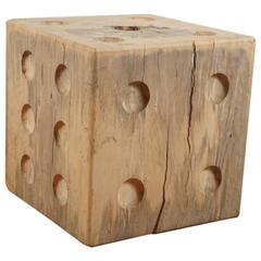 Tamarin Wood Dice, Cube Table