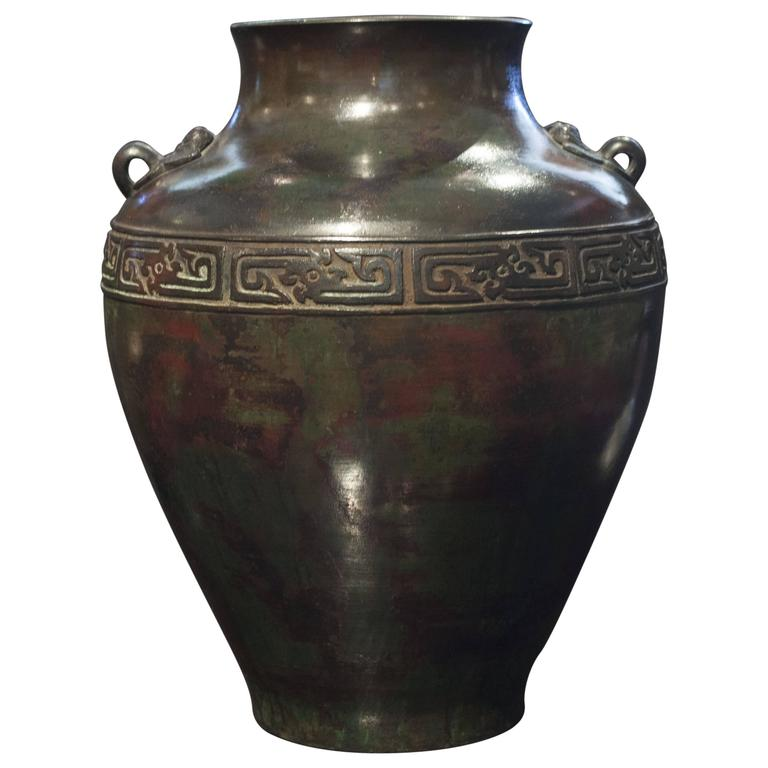 Chinese Archaic Patinated Bronze Vase