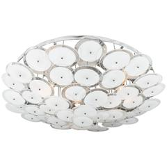 Flush Mount White Disc Fixture