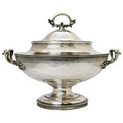 Tiffany & Co. Large Sterling Silver Tureen, circa 1875