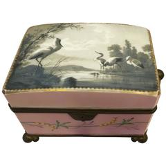 Hand-Painted Porcelain Casket Box