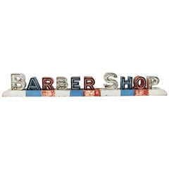 Vintage Americana Mid-Century Neon Barber Shop Sign
