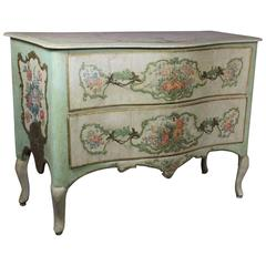 Venetian Painted Serpentine Commode