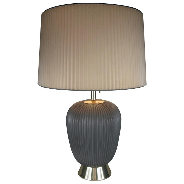 Modern 1950's Ceramic Lamp by Gerald Thurston for Lightolier