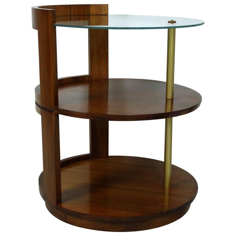 Rare Gilbert Rohde Three-Tier Side Table or Nightstand for Herman Miller