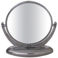 Chrome Art Deco Vanity Mirror, 1930s