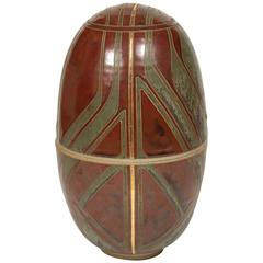 Brown Ceramic Egg
