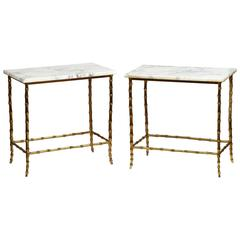 Maison Baguès Marble-Top Side Tables