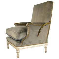 19th Century French Louis XVI Ratchet Reclinable Armchair