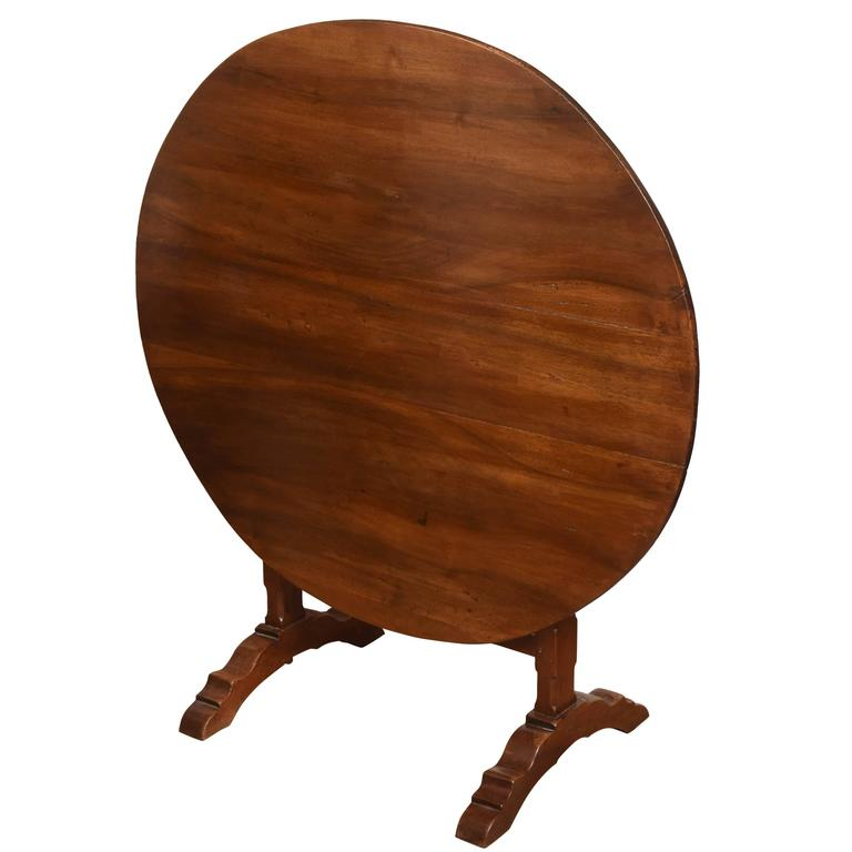 19th Century French Wine Tasting Tilt-Top Table