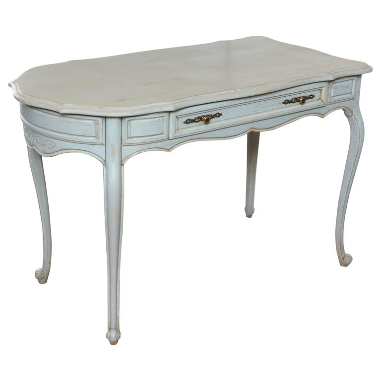 French County Two Sided Painted Desk at 1stdibs
