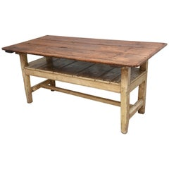 19th Century Farm Table or Settlers Bench