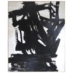 """Coal Mine I"" Original Black and White Painting by Artist Karina Gentinetta"