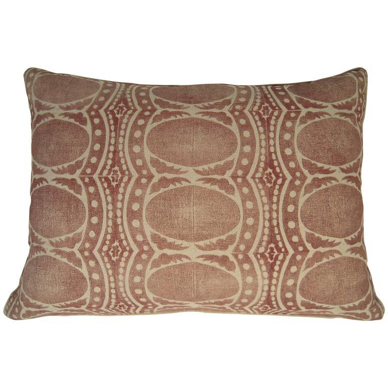 Large Drusus Tabor Hand Block Printed Sofa Or Bed Pillows At 1stdibs