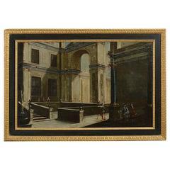 """Follower of Viviano Codazzi, """"An Architectural Capriccio"""" Painting"""