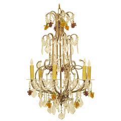 Italian Beaded Glass Chandelier