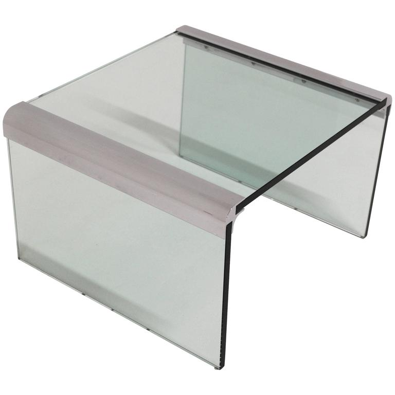 Pace Chrome and Glass Side Table