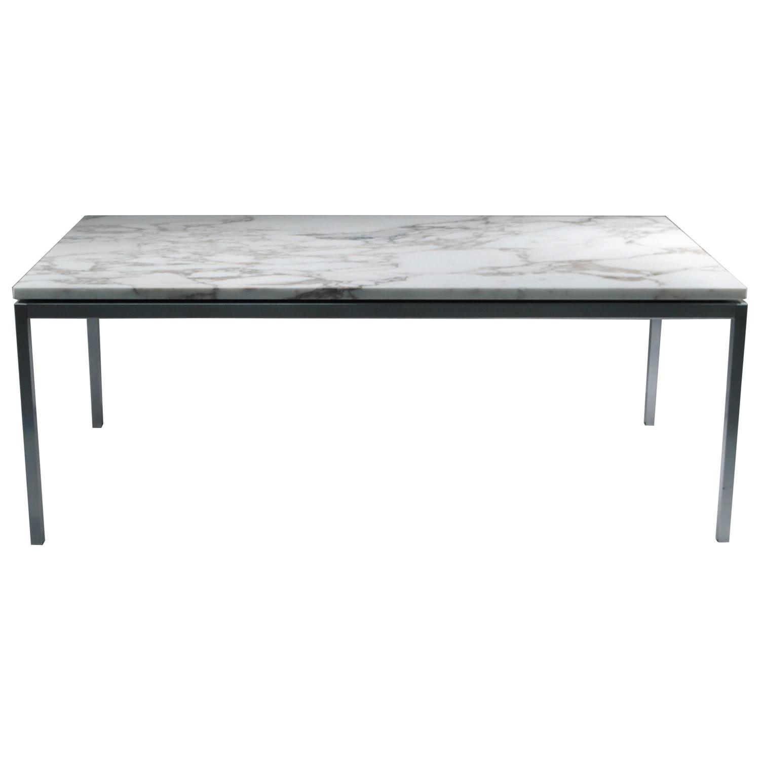 Florence knoll marble top coffee table at 1stdibs for Stone topped coffee tables