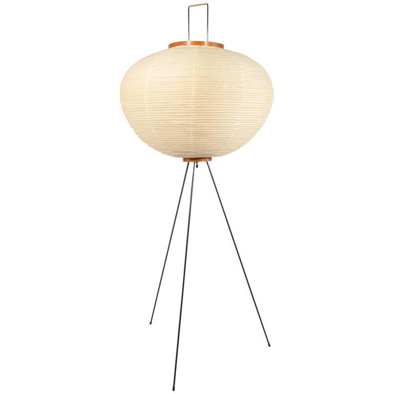 Isamu noguchi akari paper floor lamp at 1stdibs for Doily paper floor lamp
