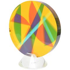 Norman Mercer Lucite Sphere Prismatic Sculpture